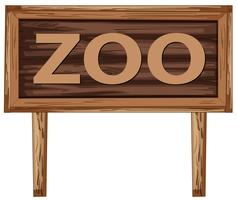 A zoo signboard on white background