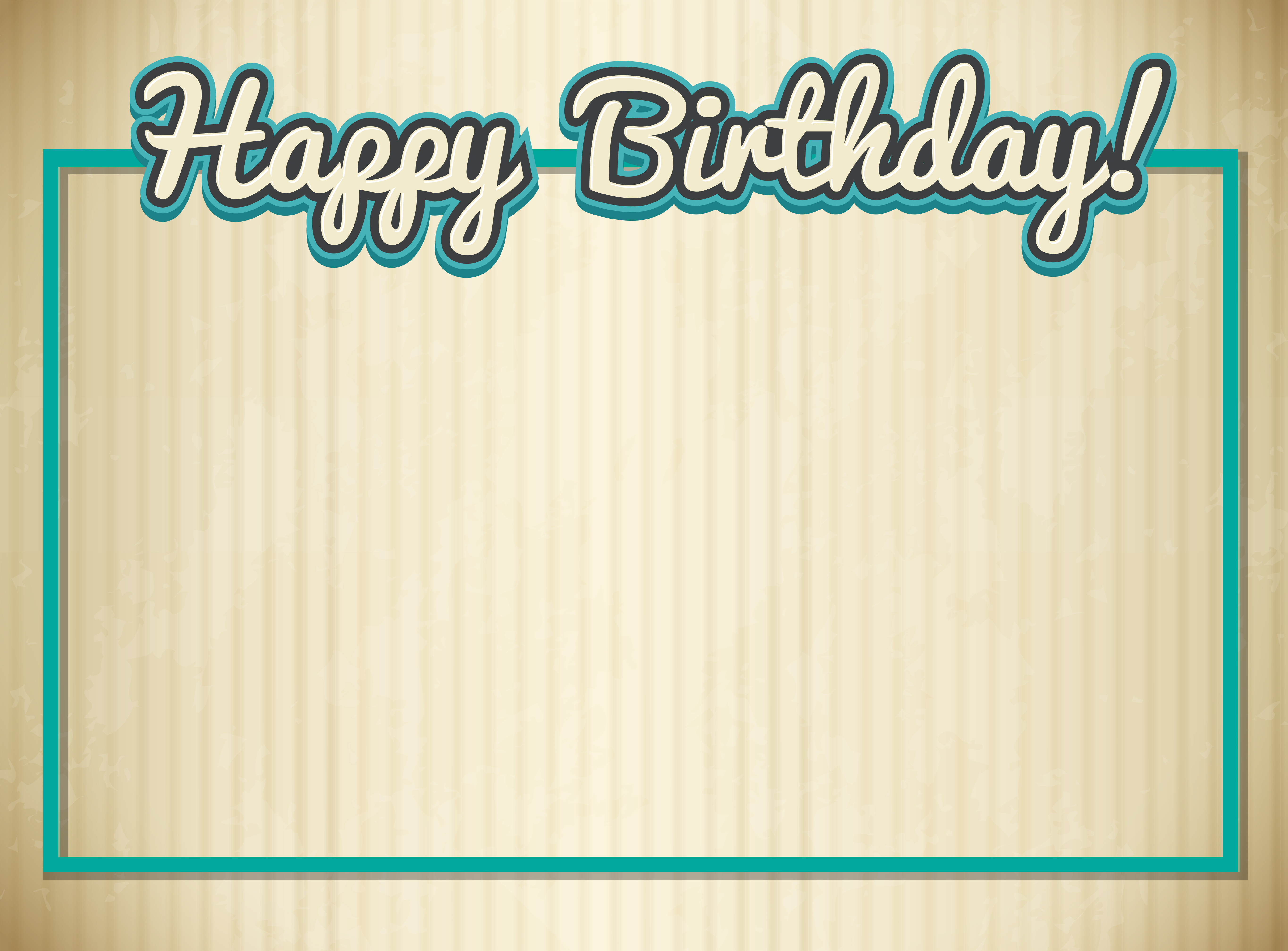 Outstanding Blank Birthday Card Template Download Free Vectors Clipart Personalised Birthday Cards Bromeletsinfo