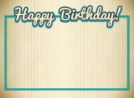 Blank birthday card template vector