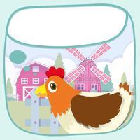 Gränsdesign med kyckling och väderkvarn