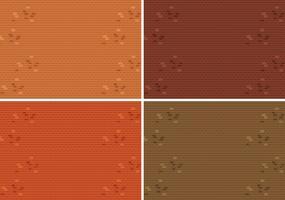 Conjunto de textura de pared de ladrillo vector