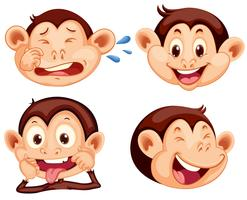 Set of monkey facial expression