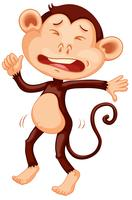 A crying monkey character vector