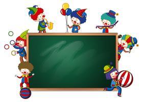 Blackboard banner circus thema