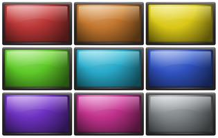 Square buttons in nine colors