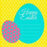 Happy Easter card with yellow background vector