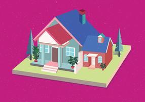 Vector isometrico de la casa