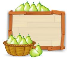 Pear in empty banner