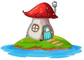 Casa dei funghi sull'isola