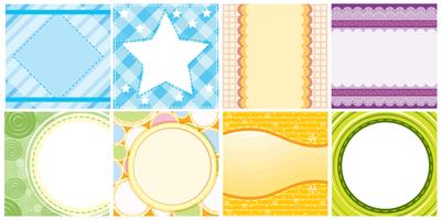 Different colorful background templates