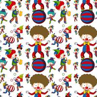 Circus clown on seamless pattern vector