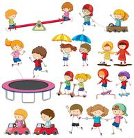 Set of doodle children character