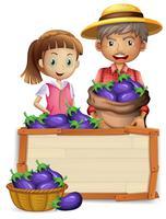 Farmer on wooden board