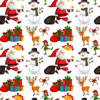 A christmas seamless pattern