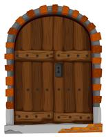 Medieval style of wooden door