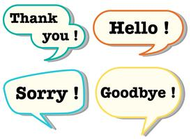 Different words in speech bubbles vector
