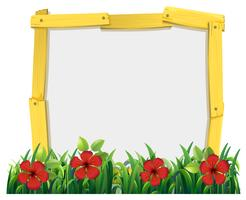 Frame design with red hibicus