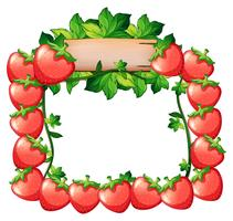 Frame design with fresh strawberries