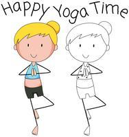 Verschillende afbeelding van yoga
