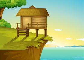 Casa tailandesa no topo