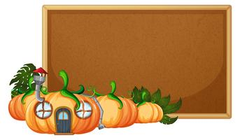 Pumpkin house on corkboard template