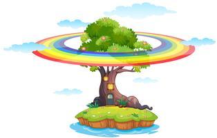 Rainbow and island