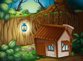 Una casa colonica nella notte