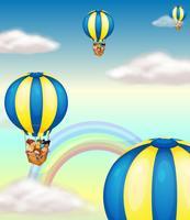 kinderen in heteluchtballon