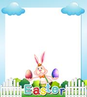 An Easter Sunday empty card template