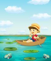 Pojke på båt