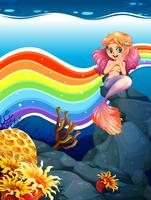 Rainbow and mermaid