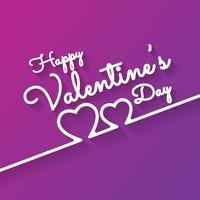 Carte de voeux romantique Happy Valentines Day