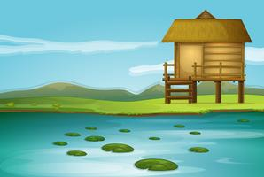 A cottage vector