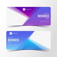 Colorful Abstract business banner template, horizontal banner cards set.