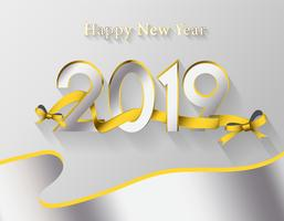 Modern Happy new year 2019 background