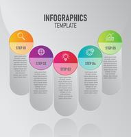 Infographics template with 5 options