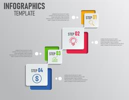 Infographics of business presentation