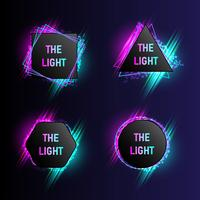 Modern light Banner Collection with 4 Abstract Shapes vector illustration.