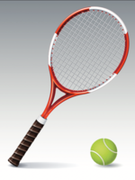 Tennisracket en tennisbalillustratie - vector