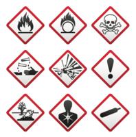 Dödliga varningsskyltar - vektor