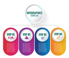 Modern Infographic elements vector design, template of graph with step. vector illustration.