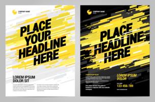 Diseño de fondo de gráficos deportivos cobertura - vector