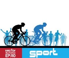 Vettore di sport in bicicletta