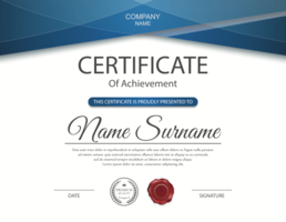 Certificate of Achievement Design Template