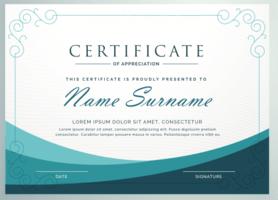 Certificaat van waardering ontwerpsjabloon