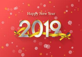 Golden happy new year background vector