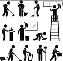 Icônes - vecteur de ménage