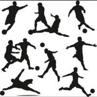 Vetor de silhueta de jogador de futebol