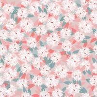 Nahtlose Blümchenmuster Blumen Hintergrund Gartennaturverzierung