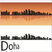 Vettore di skyline di Doha